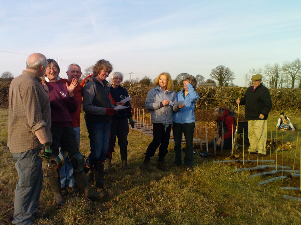 Singing the Bisley Community Orchard Song