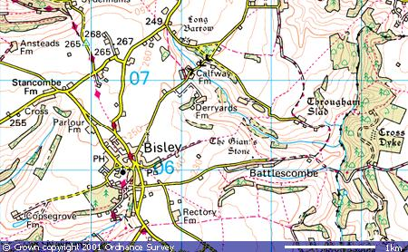 Bisley village, Stancombe, Calfway, Trougham Slad